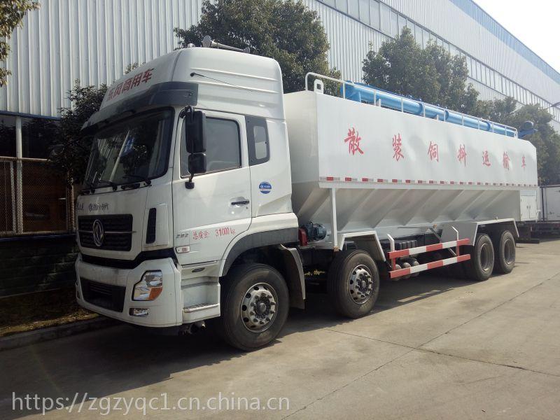 广东肇庆10吨东风天锦散装饲料车价格及参数