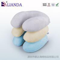 竹炭u型枕 慢回弹U型枕头 记忆枕U型枕芯 厂家批发 生产代工