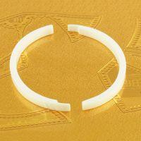 18K金手环 氧化锆陶瓷手镯饰品加工批发厂 可来图来样设计定制
