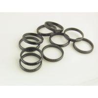 巧克力单圈陶瓷戒指黑色加工生产定制批发