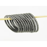 黑色巧克力氧化锆陶瓷戒指配件来图来样加工
