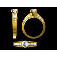 314L钛钢镶嵌红水晶男款戒指企业定制 动物 金戒指注意—复古饰品