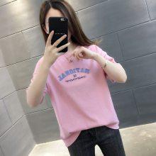 广州便宜地摊女式T恤韩版纯棉T恤批发夏季女装上衣几元块钱服饰清货2元服装批发