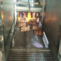 猪蹄连续式去毛机 耐高温网带式猪蹄燎毛机 康汇机械厂家