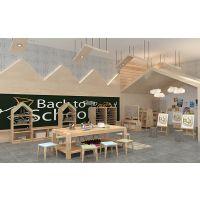 幼儿园实木桌椅橡木松木方桌子登子儿童玩具游戏桌学生课桌椅大中班厂家定做