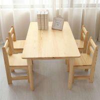 标准实木六人桌-幼儿园桌子-幼儿园桌椅-幼儿园家具定制 郑州 幼儿园实木桌椅批发