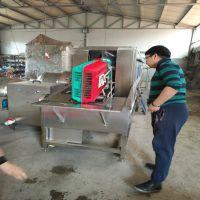 厂家生产兔笼子清洗设备 动物笼子筐清洗消毒机 康汇牌高压喷淋塑料筐