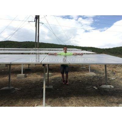 云南耀创YC-W不锈钢变频潜水泵15KW太阳能光伏水泵/扬程125米/流量30吨/时光伏提水系统