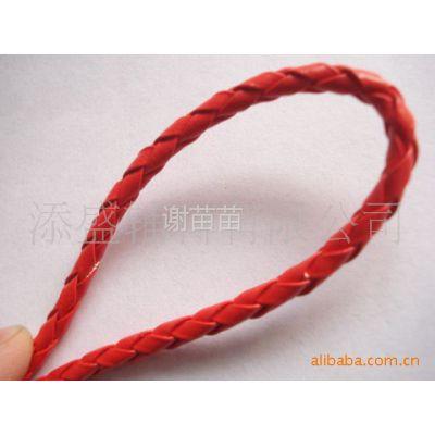 供应PU编织绳,4mmPU皮革编织绳,4股/6股/8股编织圆绳,真皮编织绳,皮绳