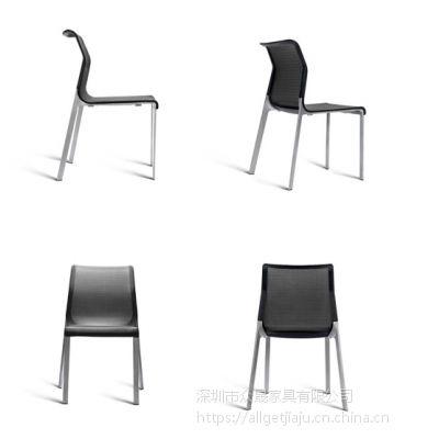 供应众晟家具进口三维网布ZS-VR01铝合金四脚会议学生椅子