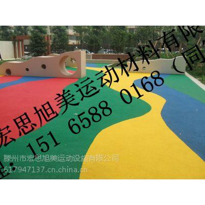 枣庄彩色安全地垫,幼儿园室外橡胶地垫,橡胶地砖厂家_