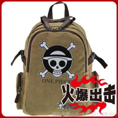 出口 工厂 休闲 批发 动漫周边 海贼王路飞luffy学生双肩包 爆款