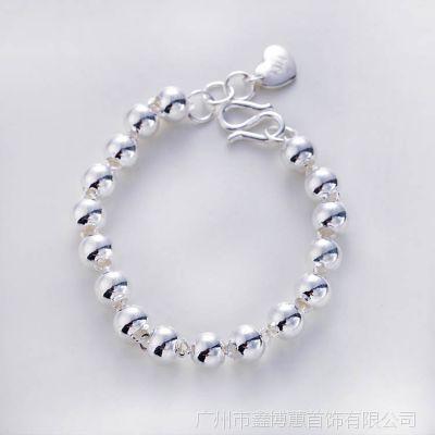 990足银饰品 创意圆珠情侣式手链 民族风 广州鑫博蕙厂家直销