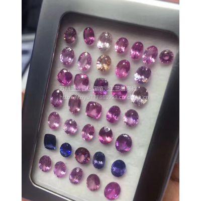 批发各种颜色彩色蓝宝石supply colored sapphire矿区直供