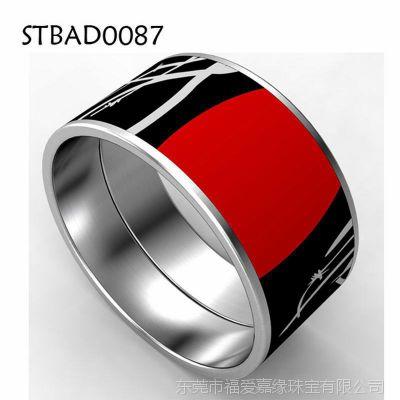 纯钛合金景泰蓝珐琅手环加工生产批发钛钢黄色手镯来图来样厂