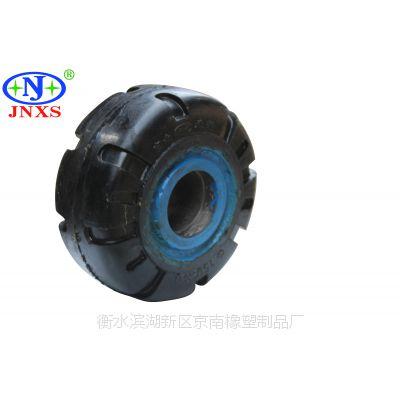 脚轮厂家直销 京南橡塑 6寸A1重型花纹橡胶平板单轮