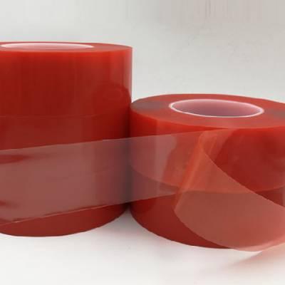 PET红膜无痕双面胶带 高透明无痕可移双面胶 代替德莎4965双面胶带