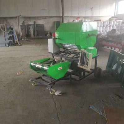 青贮秸秆打捆包膜机 稻草粉碎打包机 全自动青储打捆包膜机 鸿磊机械