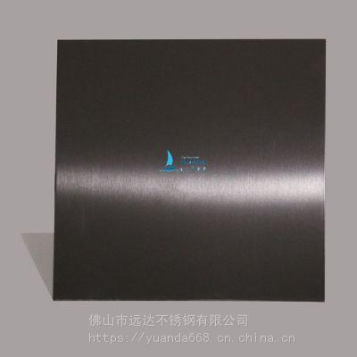 广东高比304不锈钢板磨砂发纹黑钛定制加工 可打样