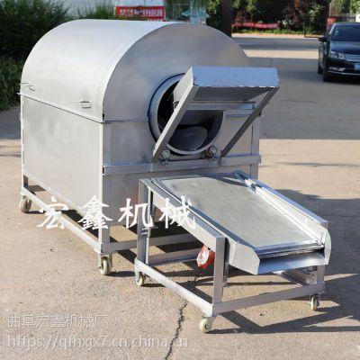 芝麻滚筒炒锅厂家 全自动干果瓜子炒货机 一次可炒200斤花生炒货机