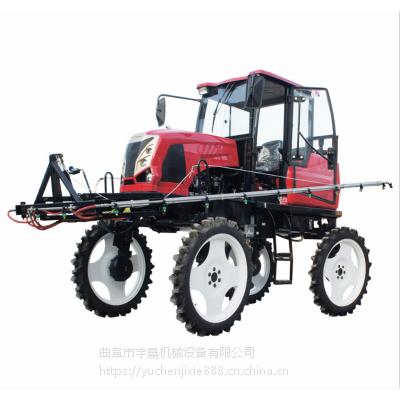 新疆棉花地大型四轮打药机 柴油50马力款幅度打药机 大型打药车宇晨机械