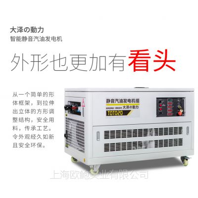 大泽动力10 12 15 20 25 30 35 40kw静音汽油发电机