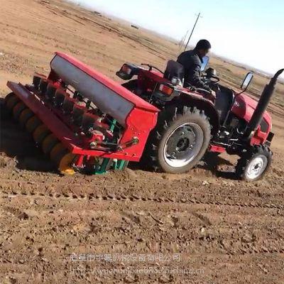 巴林右旗播种机 合作社防风种子播种机批发 油菜籽点播娄