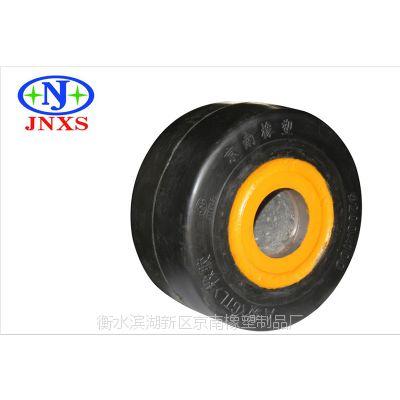 脚轮厂家直销 京南橡塑 5寸重型橡胶平板直孔单轮